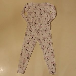 Carter's 2T ballerina long-sleeve pants pajama set